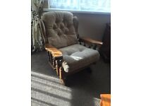 Solid Wood Sofa & Arm Chair