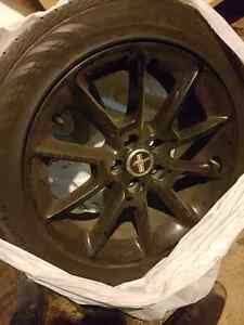 18 inch black mustang rims and tires