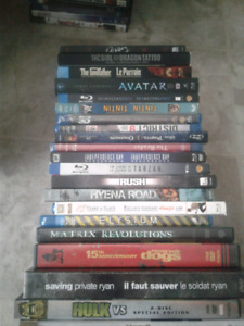 Godfather trilogy on blu ray/blu rays/ dvds / cases $55 or OBo