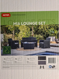 Rattan Garden Sofa with Storage