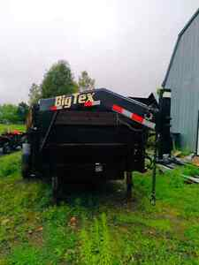 Big tex gooseneck dump trailer