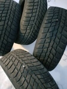 four like new 215-60-16 weathermax winter tires