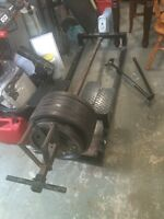 Back pull bench and weights