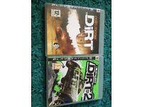 Colin McRae dirt 1 and 2 PS3 games
