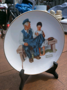 Small Norman Rockwell plate