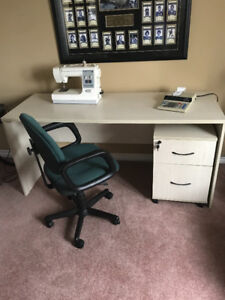 Desk, chair and filing cabinet being sold together. $150 obo