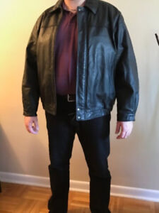 Men's 2XL Bomber Style Leather Jacket