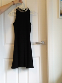 Ladies Black Party Dress size 6 worn once perfect
