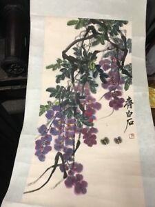 A beautiful Chinese hand painted water color painting