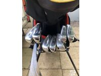 Wilson set golf clubs carry bag & ping g10 driver