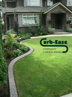 Stamped Concrete Garden Edging