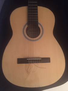 Acoustic Hyburn Classical Guitar with soft case