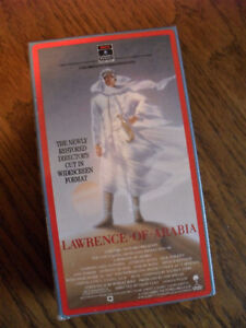 Lawrence Of Arabia VHS Cassette Tapes (new)