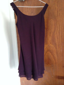 Petites Beechers Brook Burgundy Cocktail Dress - Size 10