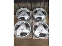 """14"""" Toyota Corolla sided alloy wheels with original boxes"""