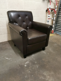 Black occasional accent chair