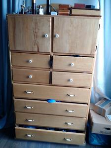 Maple tallboy dresser