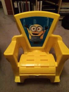 Set of 4 new Minions kids plastic chairs STILL AVAILABLE