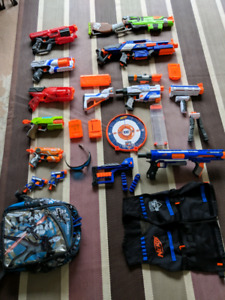 NERF Guns and Accessories Package.