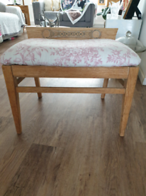 Oak (possibly) chair /stool 30s