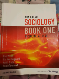 Sociology book one a level for sale  Wick, West Sussex