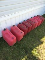 Six 20 liter jerry cans for $30