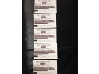 5 tickets London eye £15 each - will sell in pairs
