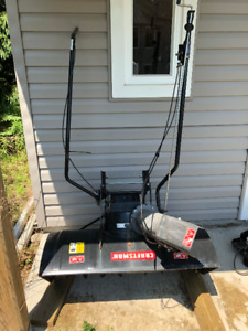 Craftsman Snowblowing Attachment to riding lawnmower