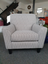 NEW Geometric Pattern Accent Armchair DELIVERY AVAILABLE