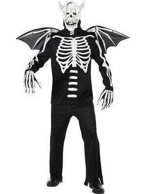 Krieger Halloween-kostüme (Gothic Skelett Krieger Halloween Kostüm Dämon Skelettkostüm Horrorkostüm neu)