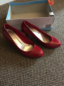 Comfort Plus Red Heels from Payless - Size 9.5