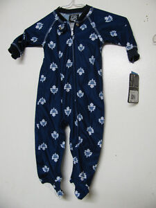 TORONTO MAPLE LEAFS / MONTREAL CANADIENS TODDLER BABY PJS JUMP