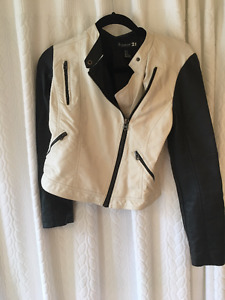 Black and White Leather jacket