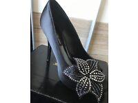 Lack peeptoe heels