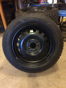 185/60/15R Goodyear Ultra Grip winter tires
