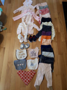 Baby Girl Clothes (3 to 6 months): 100 items