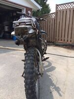 Yamaha dt enduro converted to dirtbike