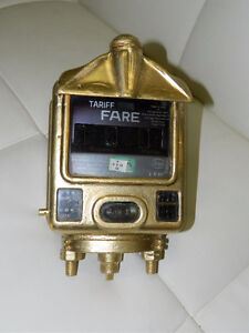 Vintage gold Cab/Taxi Meter Made in W.Germany working condition