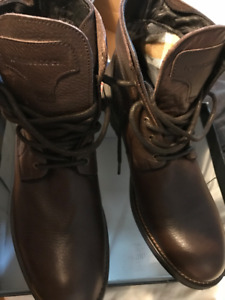 town shoes - men brown boots - leather upper