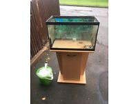FISHTANK WITH STAND NO LID ** FREE DELIVERY THURSDAY NIGHT **