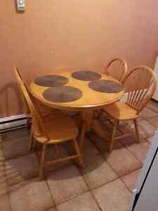 Wooden kitchen table and 4 chairs