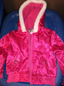 Size 3 Pink lined fleece jacket