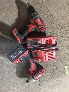 M18 Milwalkee cordless drill and impact Cambridge Kitchener Area image 1