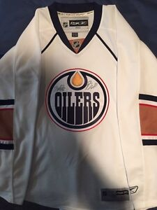 Signed Nugent-Hopkins Oilers hockey jersey