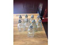 9x glass vinegar/oil bottles
