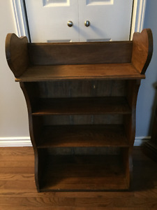 Vintage Oak Display/Book Shelf