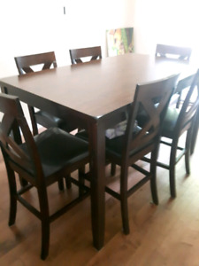 Brown Dining Table(With Chairs)