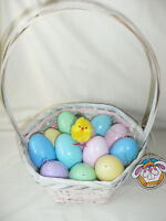 Easter Basket with Fake Grass and 12 Plastic Eggs. New with Tag!