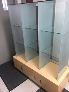 12 cubby glass cabinet,could also be used as a mini green house