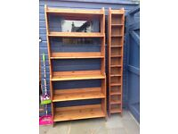 FREE. 2 bookcases and 2 cd racks